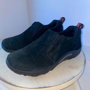 Merrell jungle moc kids black 4.5y suede leather